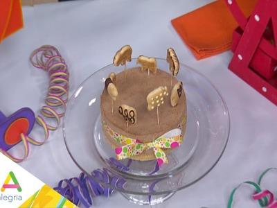 Carrusel de animalitos en pastel en El Sabor de los Sueños