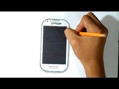 Cómo dibujar telefono samsung galaxy mini