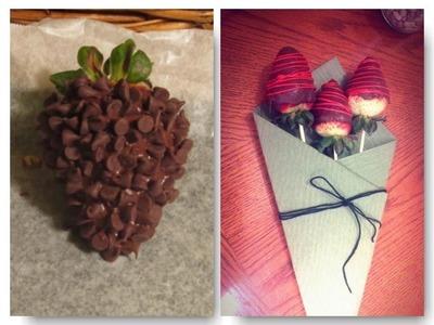 Como hacer fresas con chocolate