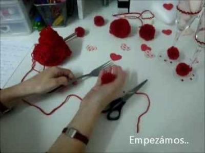 Como hacer MINI- POMPÓN de lana