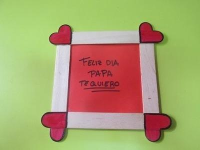 ¿Cómo hacer un marco de fotos con corazones? - Día del padre (5)
