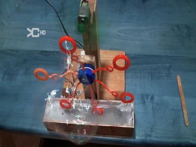 Cómo hacer una Máquina  de pompas  eléctrica