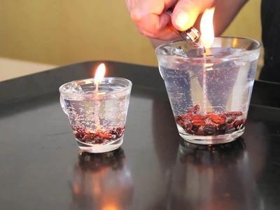 Como hacer una vela transparente y decorada