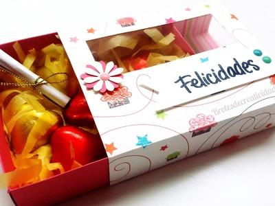 DIY : Cajita regalo con ventanita *Scrapbook* - Brotes de Creatividad