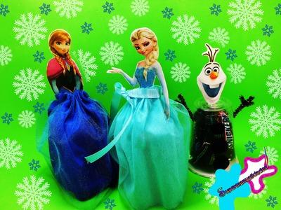Dulceros o bolos de Anna y Elsa (fáciles y bonitos) ❄SUPERMANUALIDADES❄
