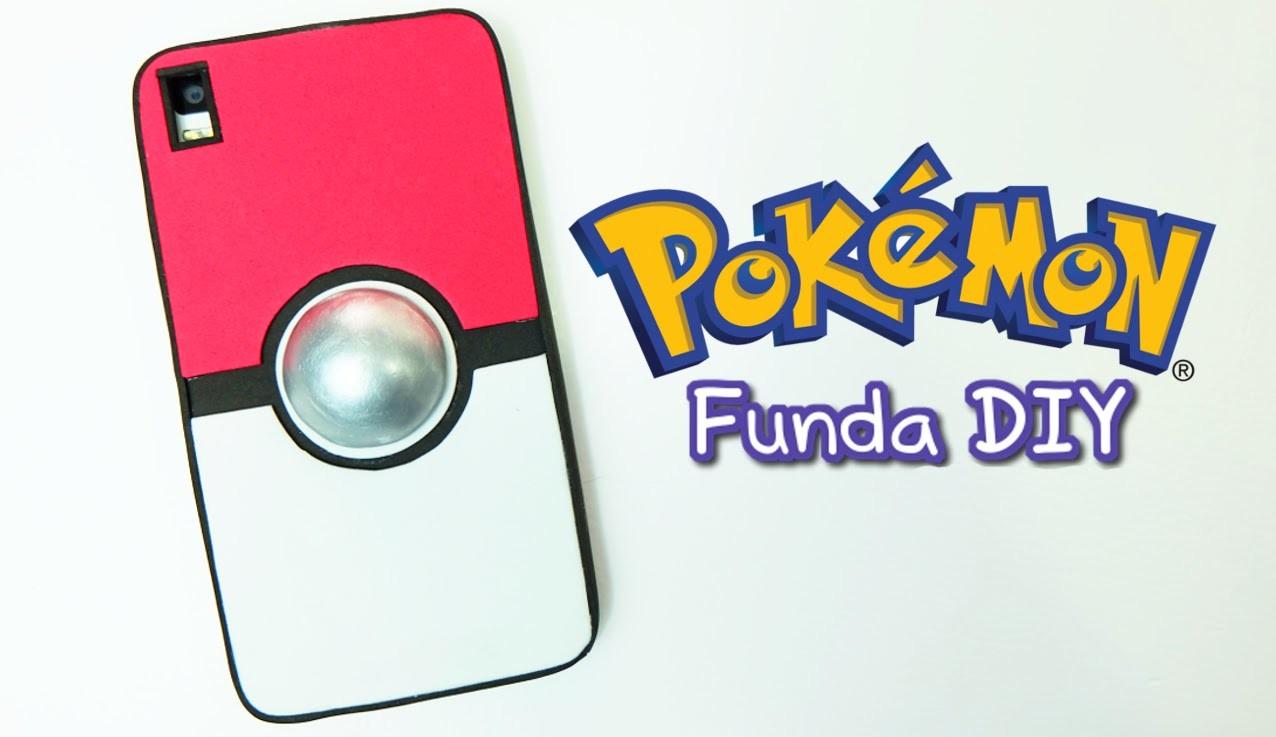 Funda para móvil o celular de Pokemon. Funda pokeball casera DIY