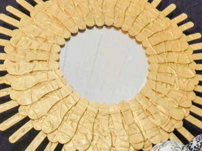 Haz un Espejo con Forma de Sol con Palitos de Helado - Hazlo tu Mismo Hogar - Guidecentral