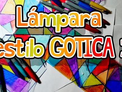 Lámpara tipo vitral Gótico, CURSO DE VERANO | ArtGio