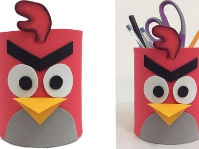 Porta lápices de Angry Birds