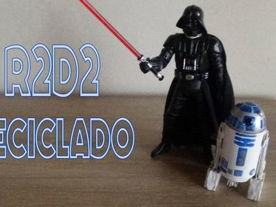 R2D2 (Arturito) hecho con materiales reciclados │Candy Bu