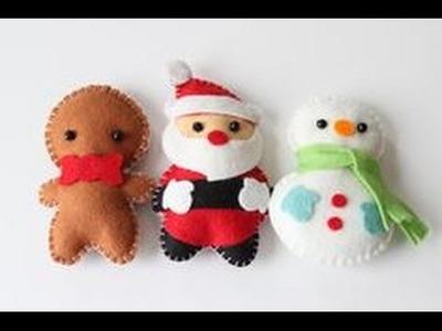 Santa Claus manualidad de Navidad-peluche de Navidad muy fácil