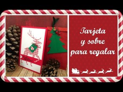 Tarjeta y sobre para regalo de Navidad. El Décimo de Navidad Ep. 8