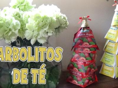 Arbolito navideño con bolsitas de té - Candy Bu
