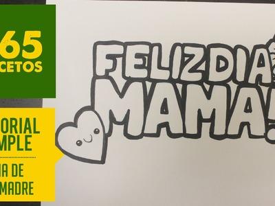 COMO DIBUJAR EL MEJOR REGALO PARA EL DIA DE LA MADRE: Dibujo paso a paso facil en español