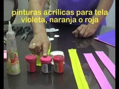 ¿Cómo elaborar un bolso de foamy? 1.5. Materiales