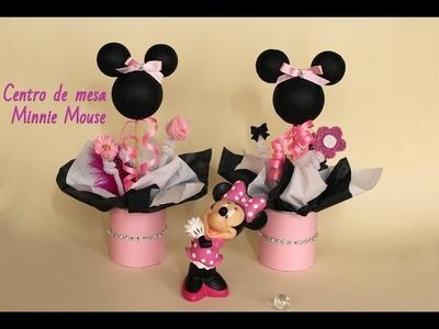 Como hacer centros de mesa de Minnie Mouse
