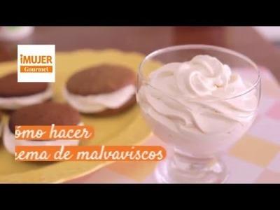 Cómo hacer crema de malvaviscos | @RecetasiMujer