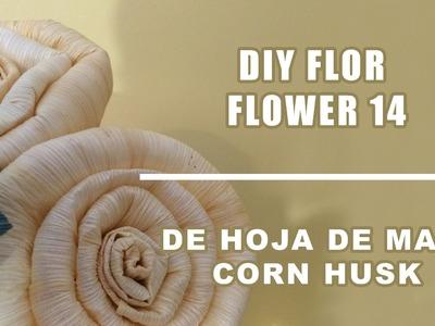 Como hacer flores hojas de maiz 14.Corn husk dolls & flowers.hojas de totomoxtle