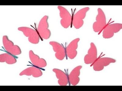 Cómo hacer flores y mariposas de fieltro - Mariposas de fieltro