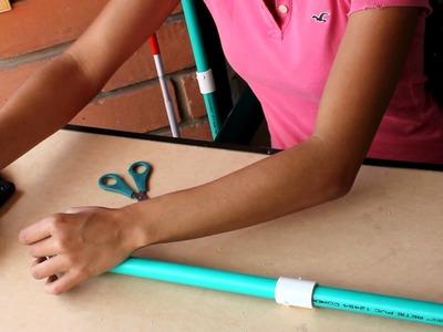 Como hacer un Bastón para invidentes usando Tubos de PVC