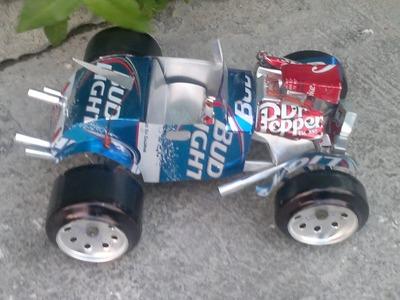 Como hacer un Hot Rod con latas de aluminio tutorial cap.2