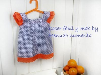 Cómo hacer un top de niña o vestido fácil (con patrón)