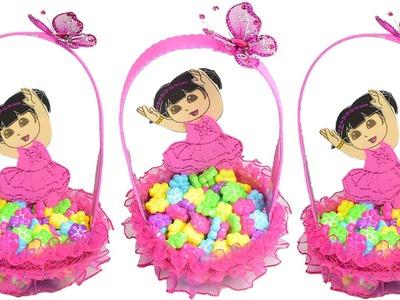 Como hacer una Canastita de Dora La Exploradora | El Mundo de MyG