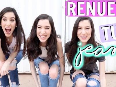 Cómo romper tus jeans fácil ♡Trillizas | Triplets