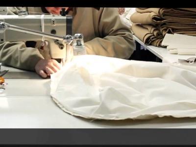 Confección de cojín de plumas artesanal