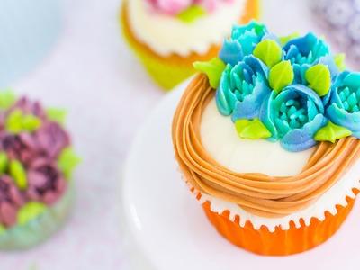 Decoración de cupcakes con boquillas rusas - Tutorial - María Lunarillos | tienda & blog