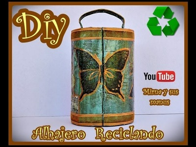 Diy  Alhajero Reciclando  Mirna y sus manus. Diy. recycled jewel box