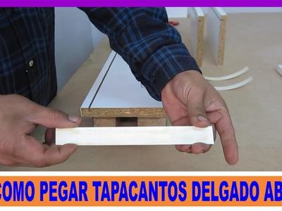 Pegado tapacanto delgado ABS-PVC en tableros de melamina