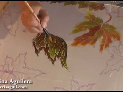 Pintura en seda , silk painting , pintura en seda