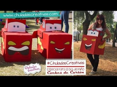 Rayo McQueen de Carton :: Coche de Caja de Cartón :: Chuladas Creativas