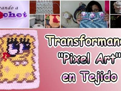 """Tutorial de como transformar """"Pixel Art"""" en Tejido de Crochet"""