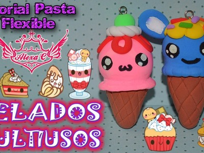 ♥ Tutorial: Helados Multiusos [Foamy Moldeable.Pasta Flexible. Porcelana Fría] ♥