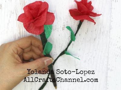 Aprenda hacer rosas de papel  wmv