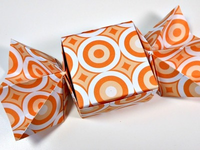 Caja de Origami con forma de Caramelo | Mundo@Party