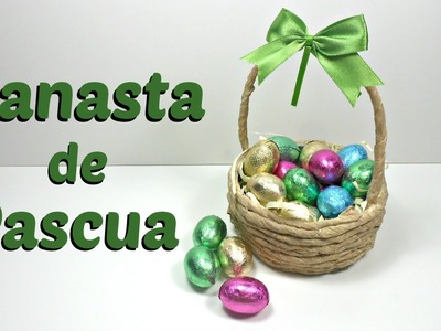 Canasta para huevos de chocolate | Pascua - Easter | Reciclaje | Mundo@Party