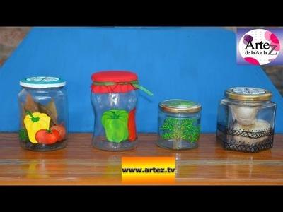 Cómo decorar y reciclar envases de vidrio