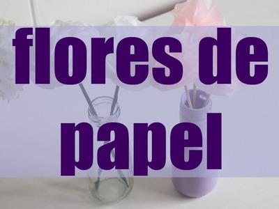 ¿Cómo hacer flores de papel de seda?(Paper flowers), Ft Brujula de la moda. - Kathy Gámez
