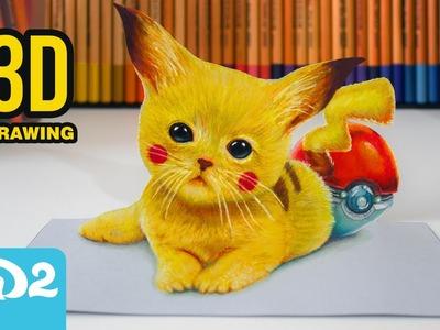 Dibujando a Pikachu - Dibujo en 3D