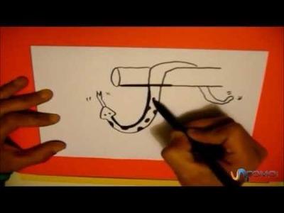 Dibujar con la letra J Draw with the letter J