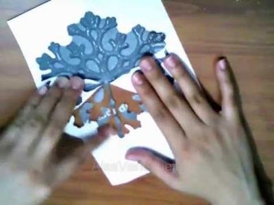 DIY: plantilla para hacer copos de nieve (navidad) FACIL