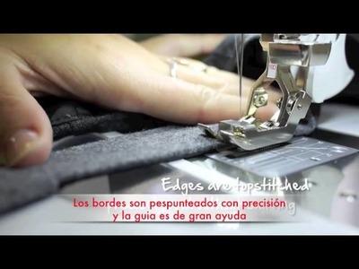 Prensatelas nº 10 para coser bordes y unir puntillas y bloques de patchwork ya acolchados