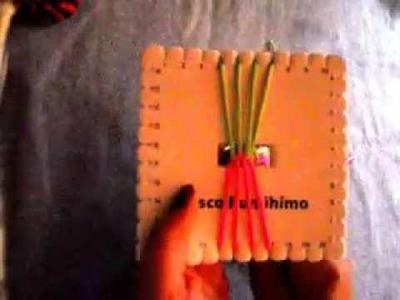 Pulsera plana con el disco kumihimo cuadrado
