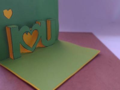 """Tarjeta ¡Pop Up! """"I LOVE YOU""""   San Valentín - Ani Crafts"""