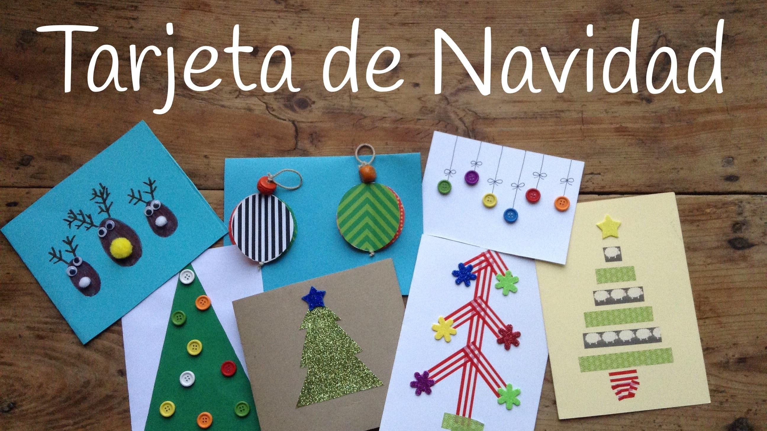10 tarjetas de navidad originales para ni os for Manualidades navidenas para ninos