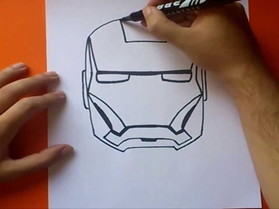 Como dibujar a iron man paso a paso | How to draw iron man