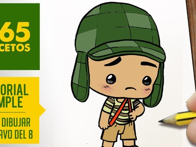 COMO DIBUJAR AL CHAVO DEL 8 ANIMADO- Dibujos kawaii faciles - How to draw a Chavo del 8